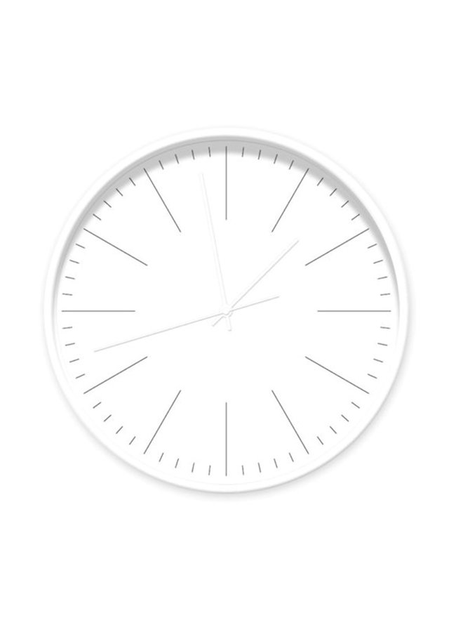 Clock white with stripes