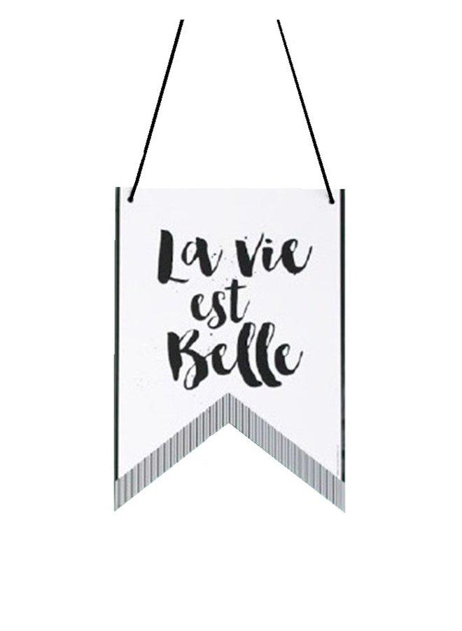 Wall Banner  La Vie - Oui | A4