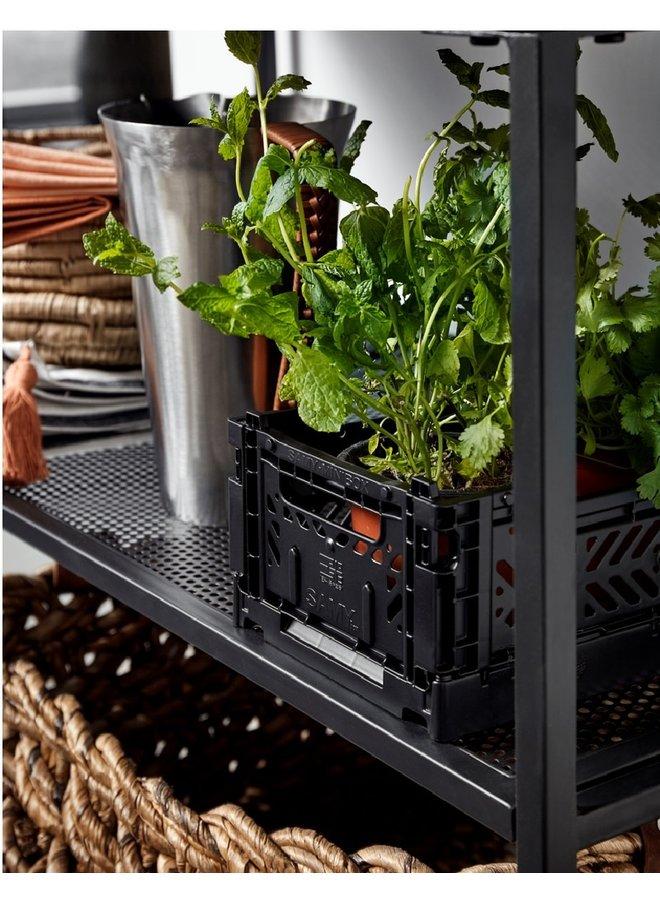 AY-KASA foldable storage crate mini, black