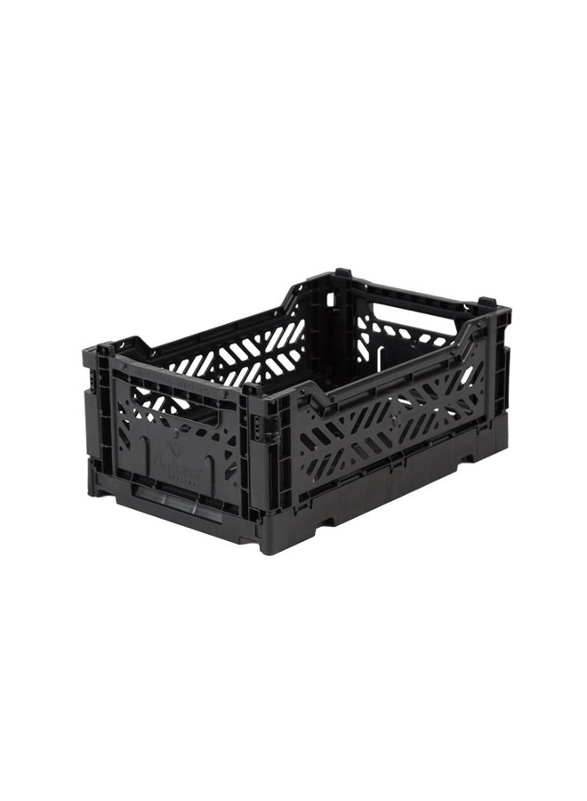 AY-KASA foldable storage crate mini, black
