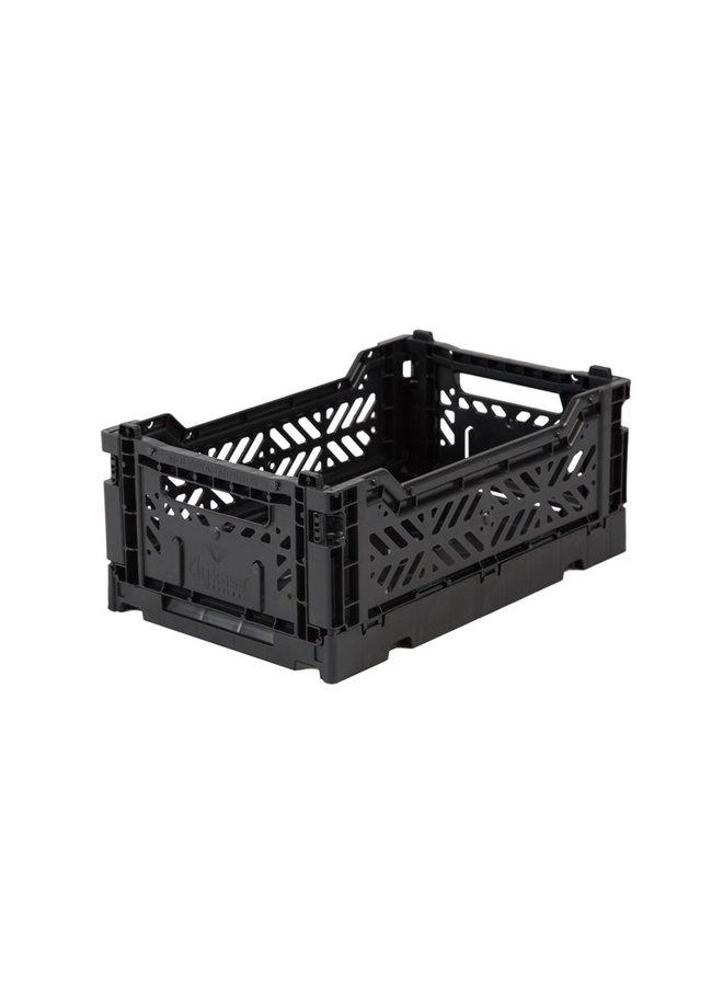 Foldable storage crate mini | black