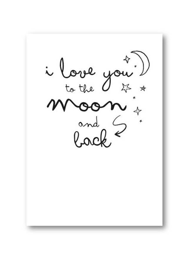Poster 'I love you to the moon'