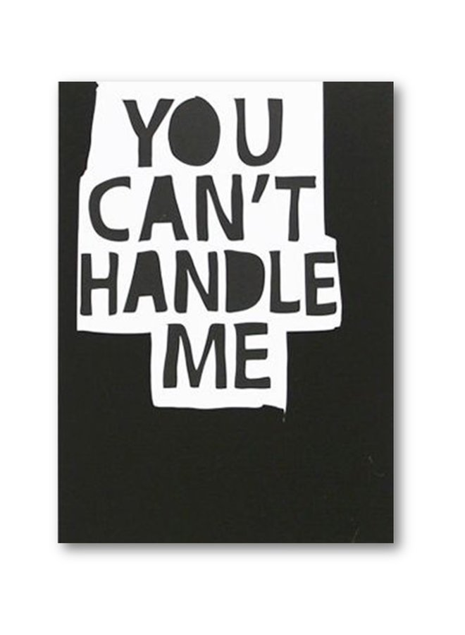 My Deer Art Card You can't handle me | A5