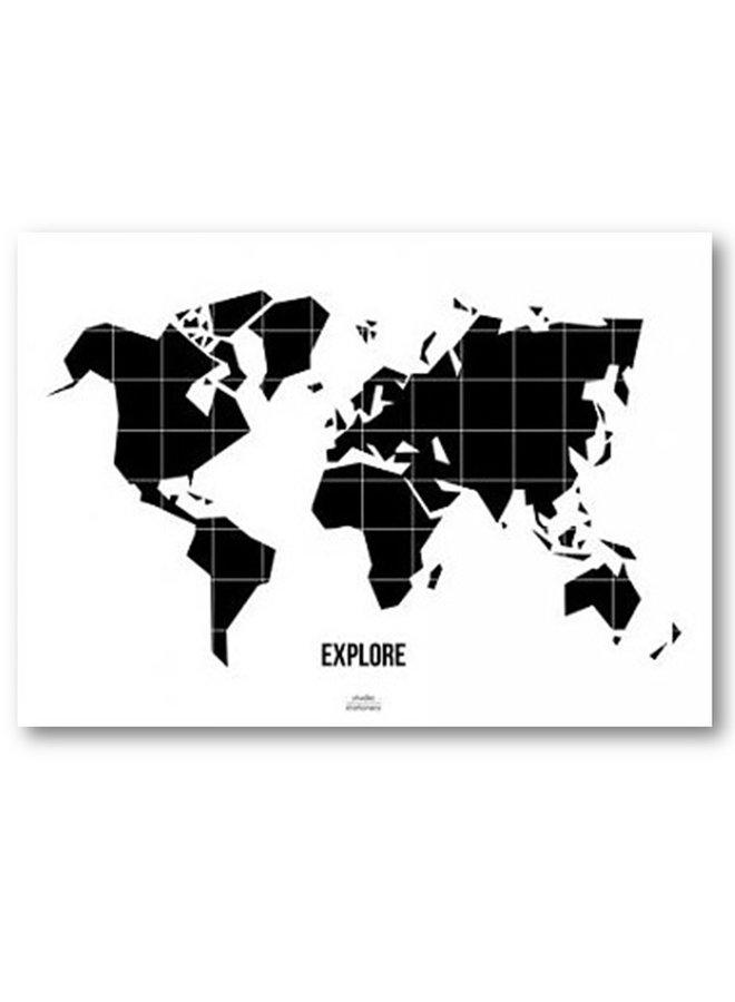 Poster World Map   50x70cm