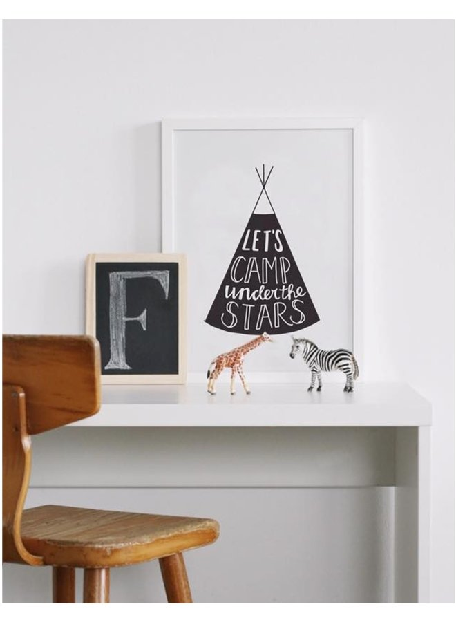 Paqhuis Poster Let's Camp Under The Stars | A3
