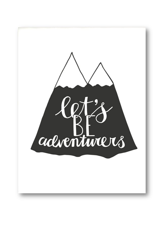 Paqhuis Poster Let's Be Adventurers