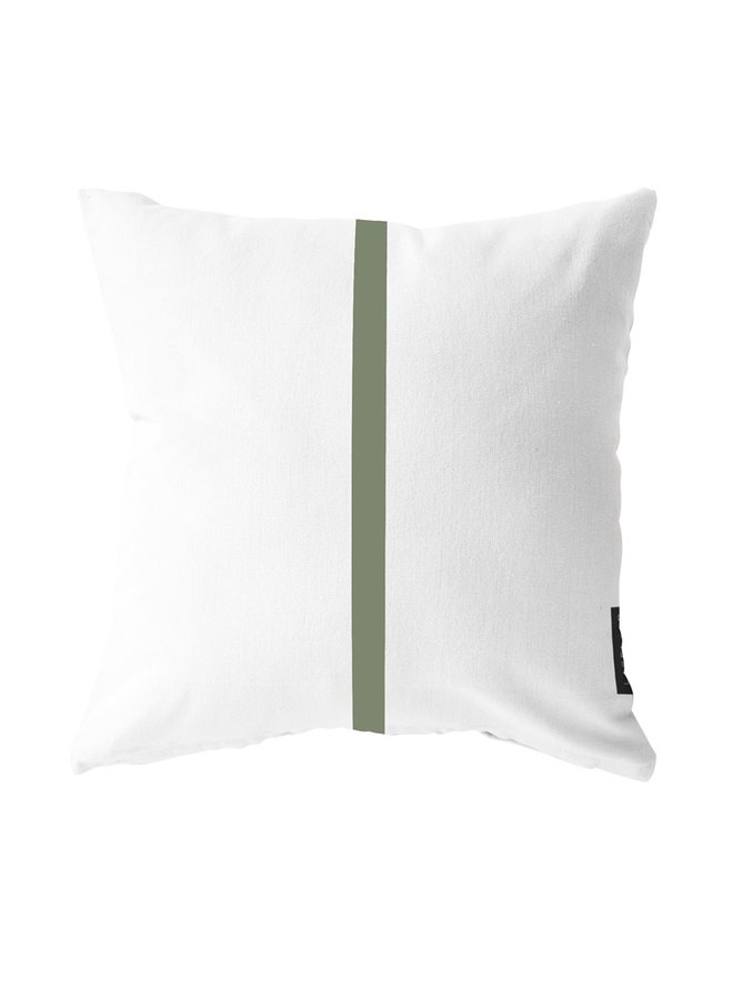 Outdoor cushion  stripe olive green