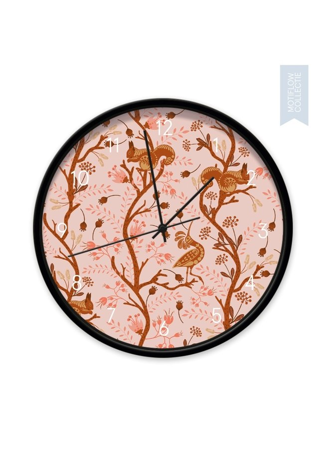 Children's Clock Ginger forest blush