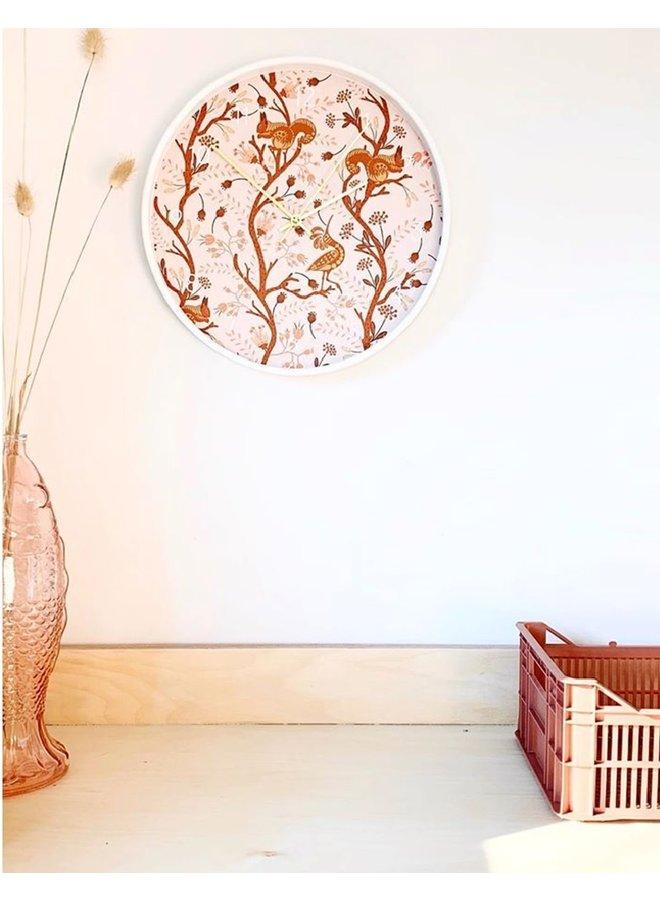 Designer kinderklok Ginger forest blush