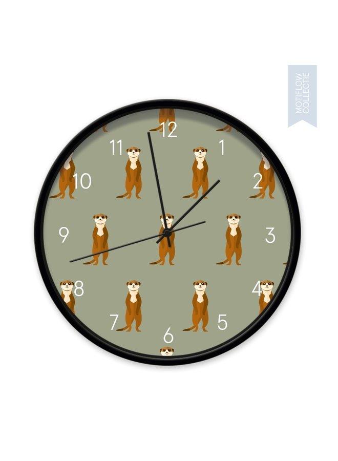 Children's Clock Meerkats all around