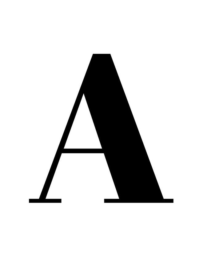 Alfabet letters en cijfers