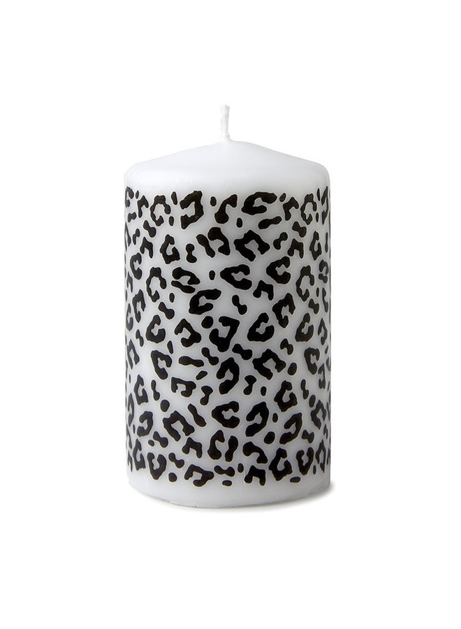 Candle with panther pattern