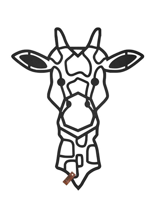 Houten wanddecoratie Giraffe kalfje
