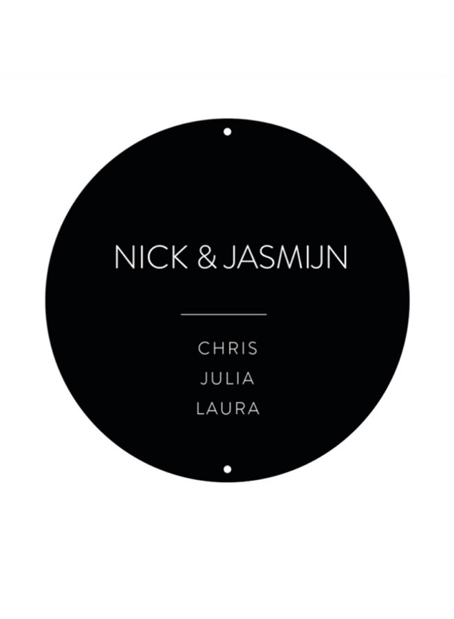 Outdoor wall circle - nameplate no number