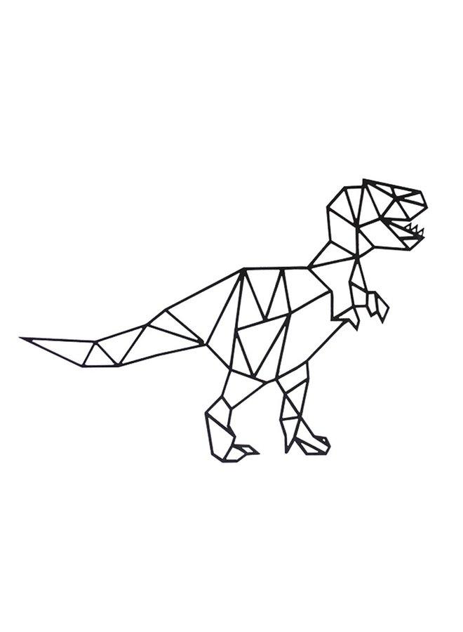 Houten wanddecoratie T-rex