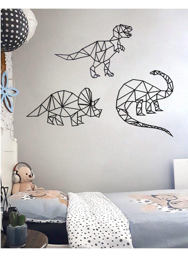 Houten wanddecoratie Brontosaurus