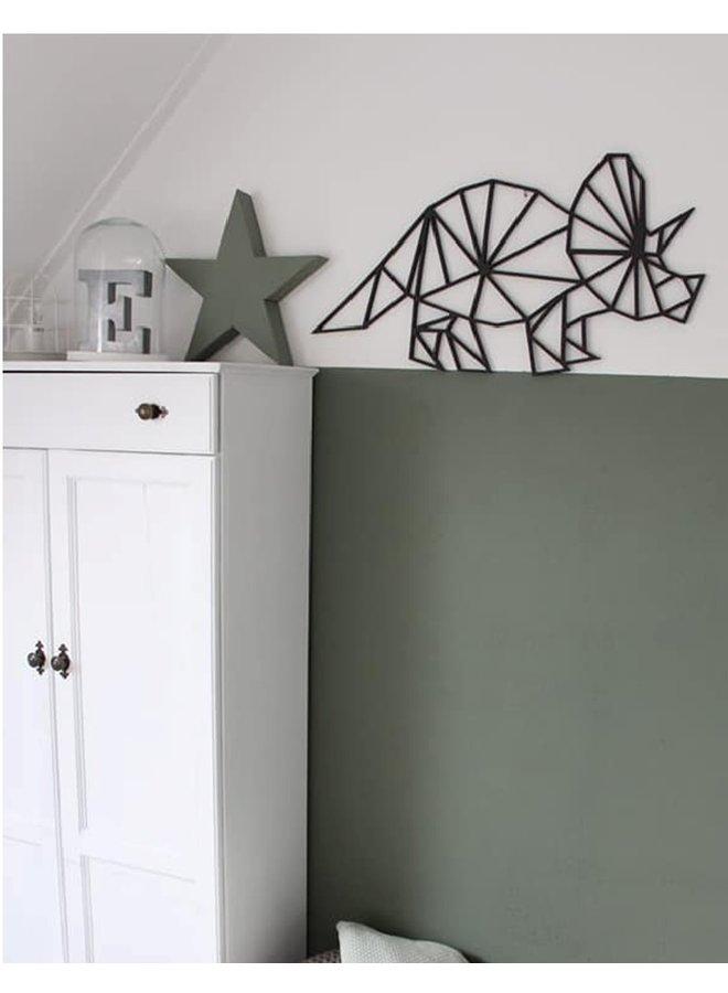 Houten wanddecoratie Triceratops