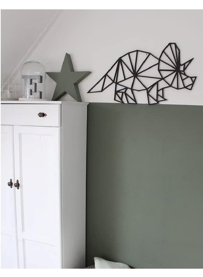 Wooden wall decoration Triceratops