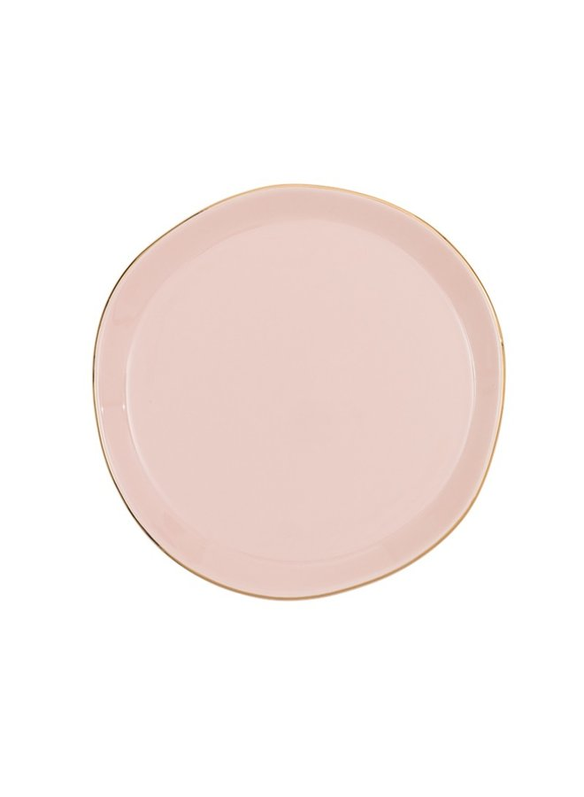 Good Morning plate old pink
