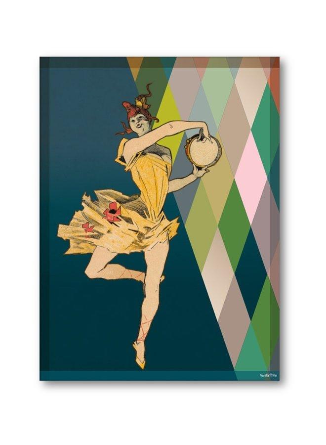 Poster Danseuse pirouette 30x40cm