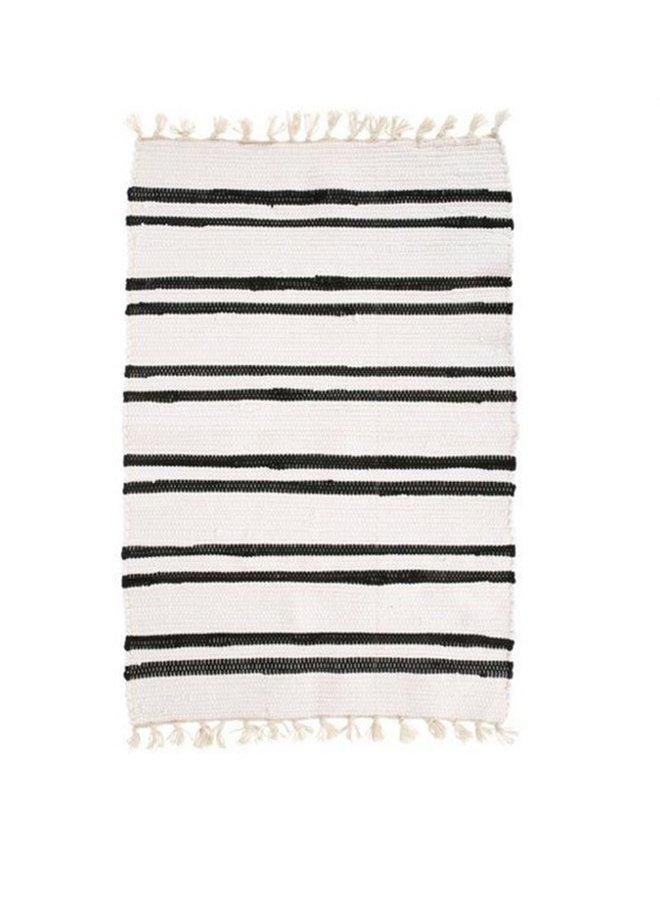 Vloerkleed Anhui wit/zwart