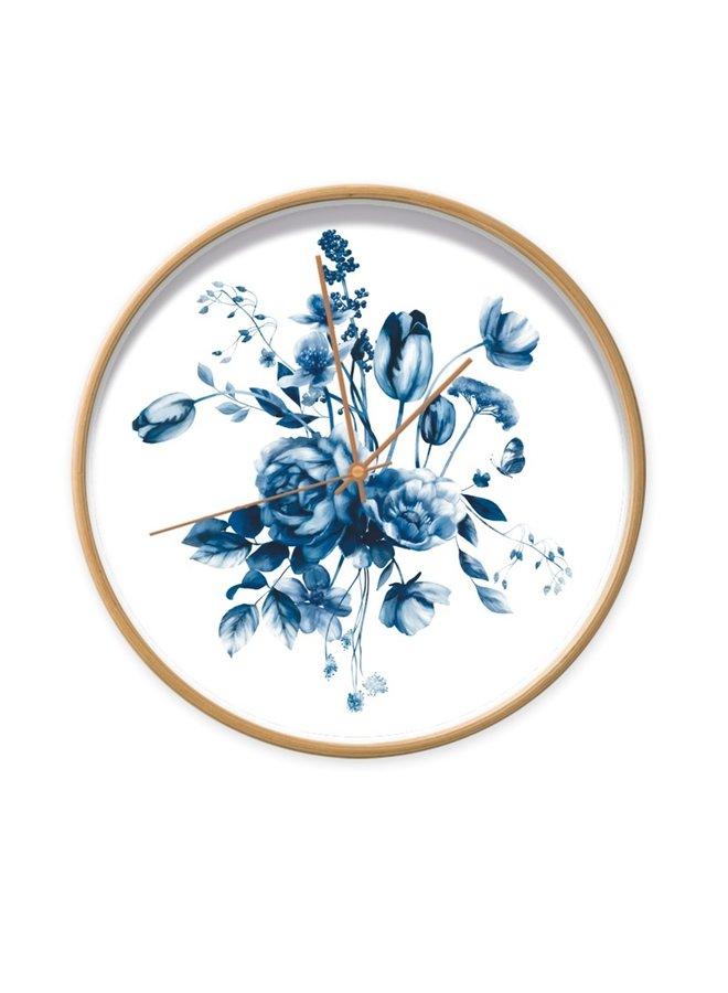 Klok Studio Amke Delfts blauwe bloemen 1