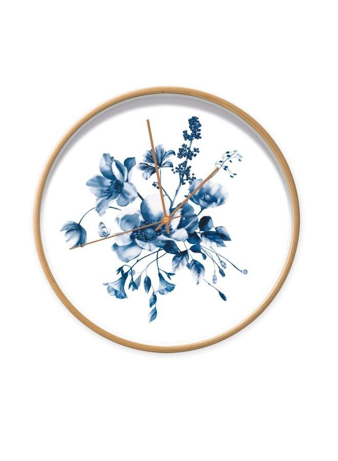 Clock Studio Amke Delfts blue flowers 2