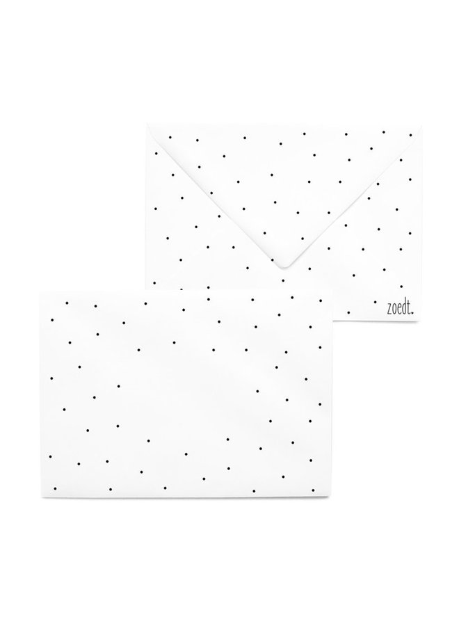 Printed envelope with dots