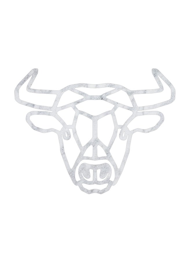 Outdoor wooden wall decoration geometric Bull