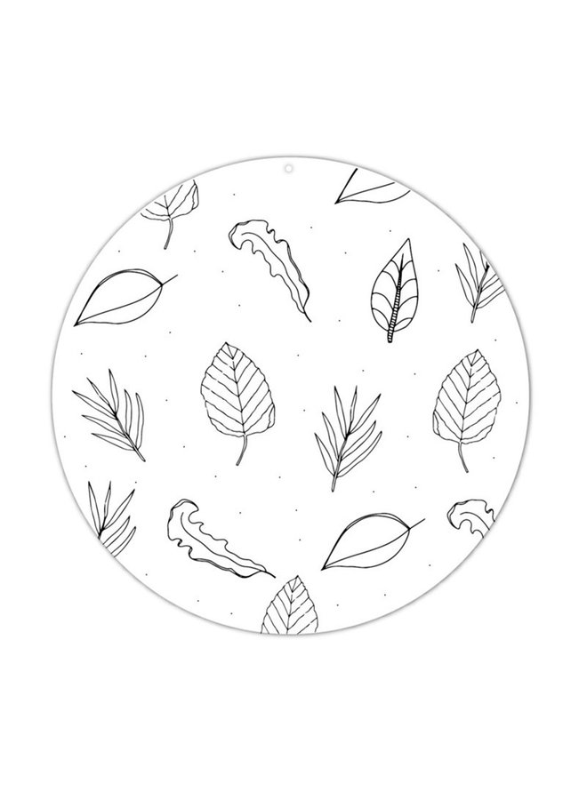 Muurcirkel roundie blaadjes