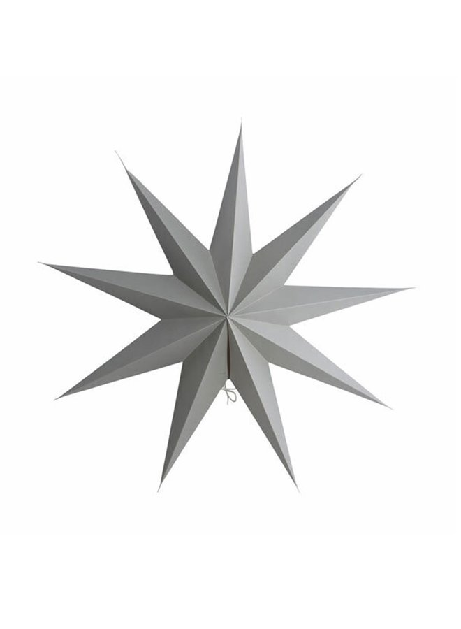 Star, paper, 9 Point, Grey