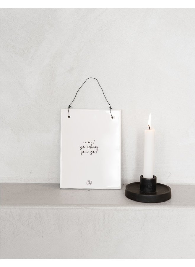 Candle white   12cm