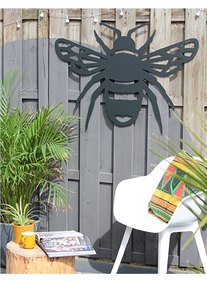 Outdoor wooden wall decoration geometric bumblebee