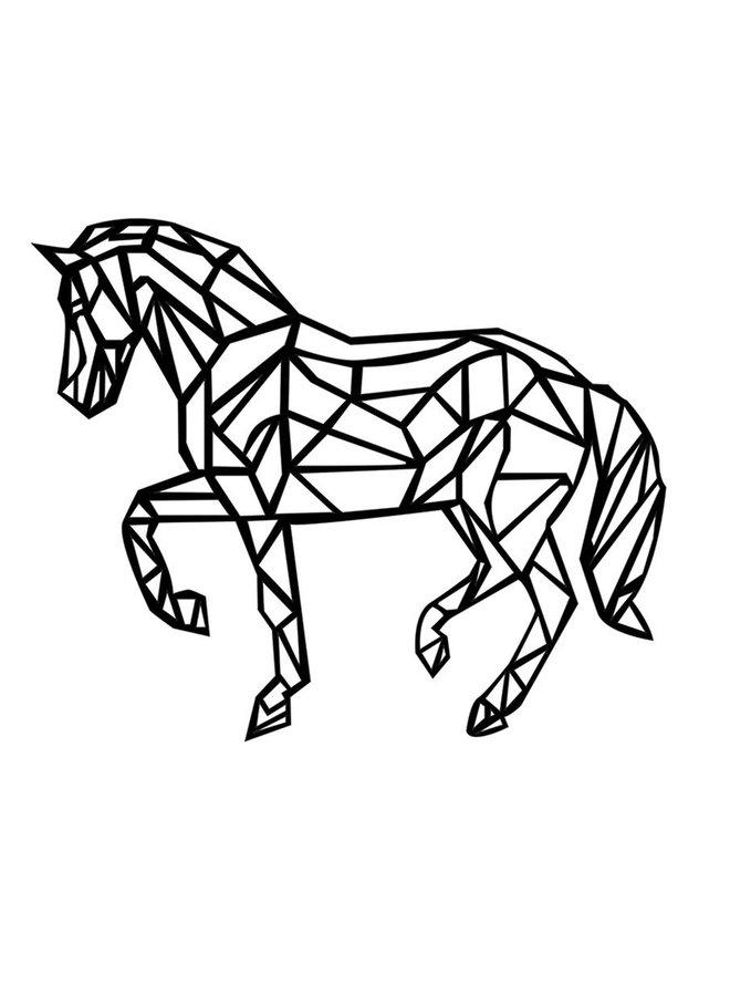 Houten wanddecoratie Dressuur paard