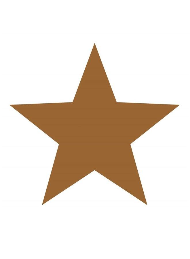 Wall circle Star, hazelnut