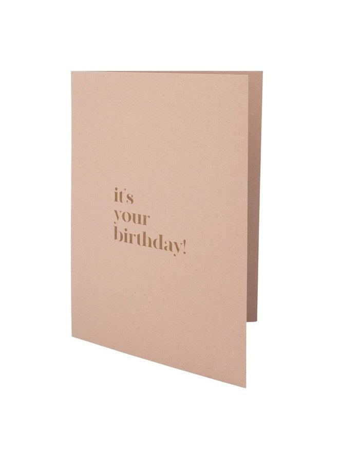Wishing card birthday lila