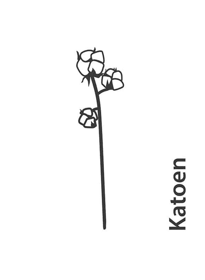 Houten bloem Katoen