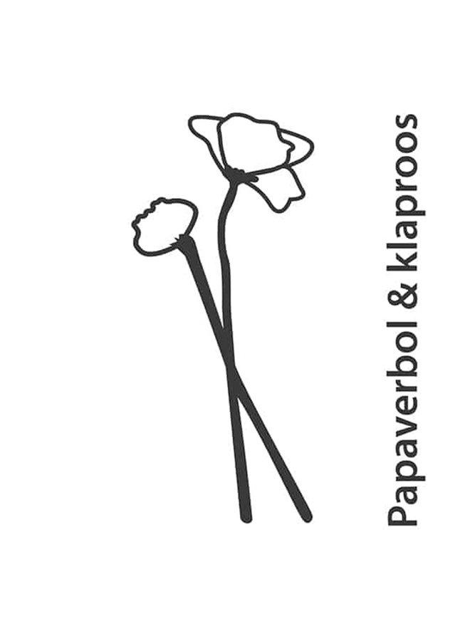 Wooden flower Poppy bulb and poppy