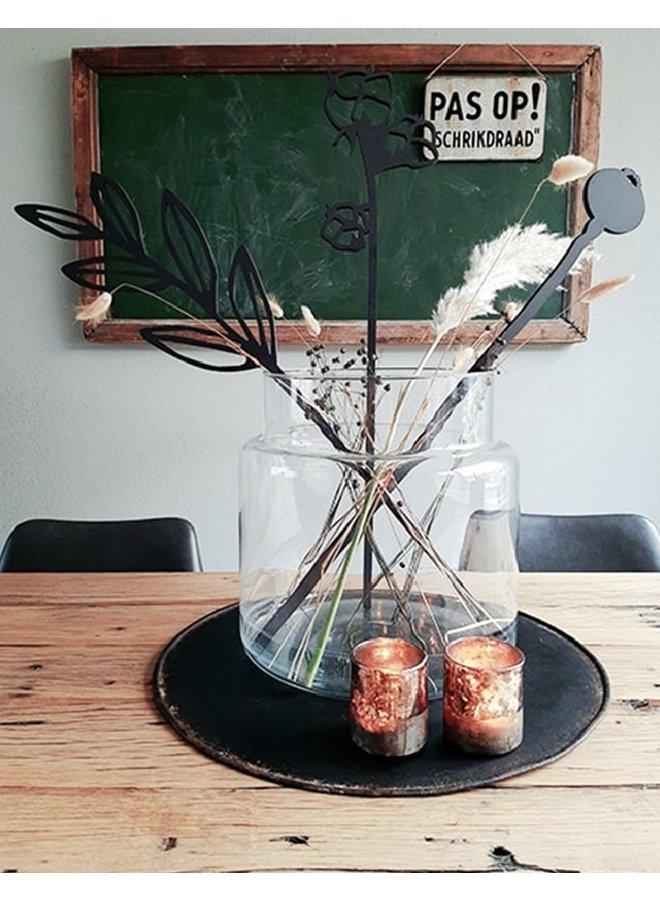 Houten bloem Papaverbol en klaproos