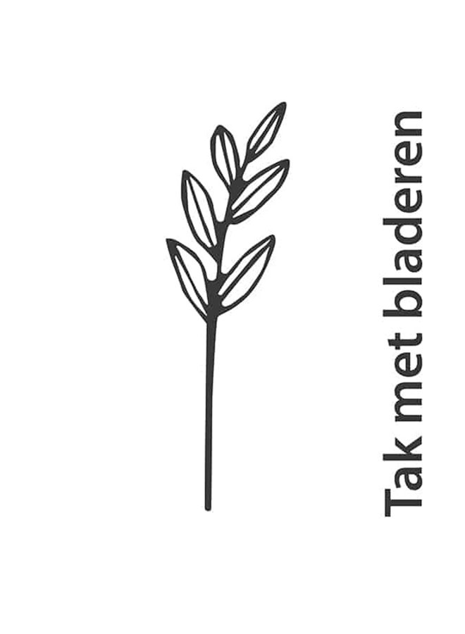 Houten bloem Tak met bladeren