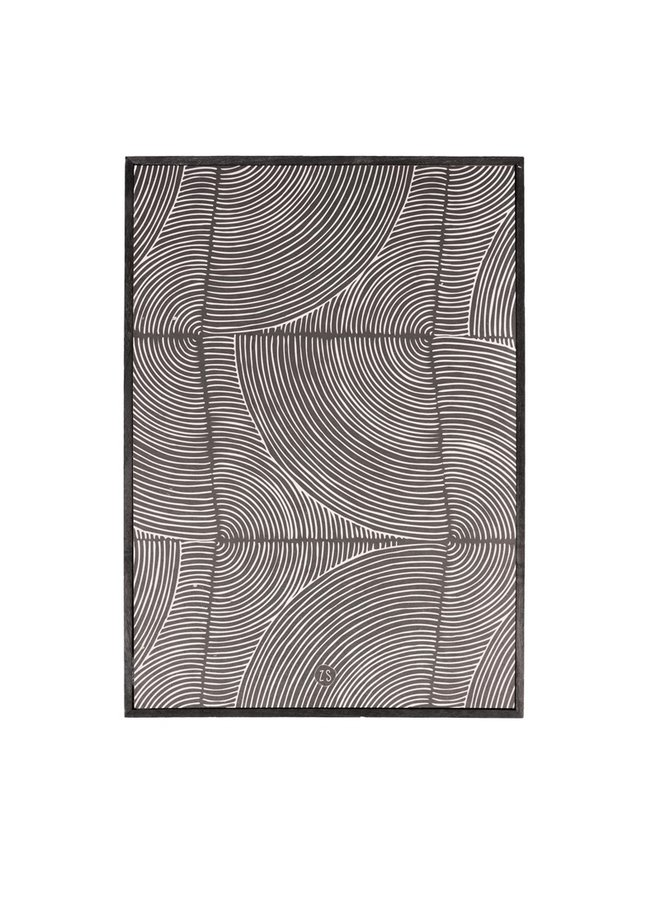 Painting graphic pattern black