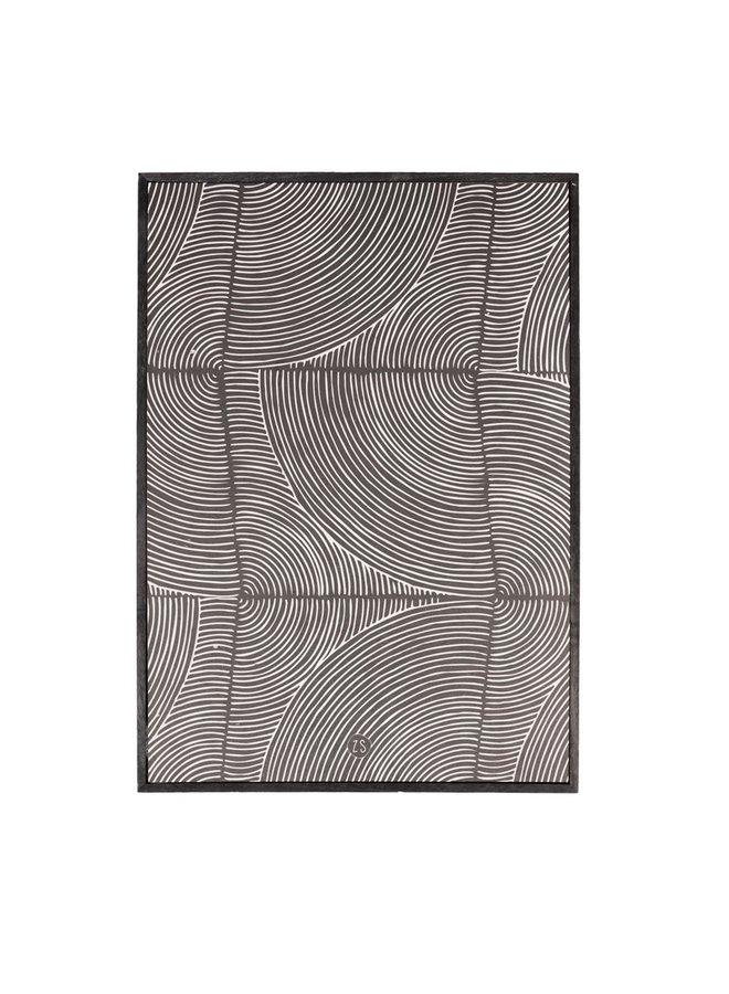 Schilderij grafisch patroon zwart