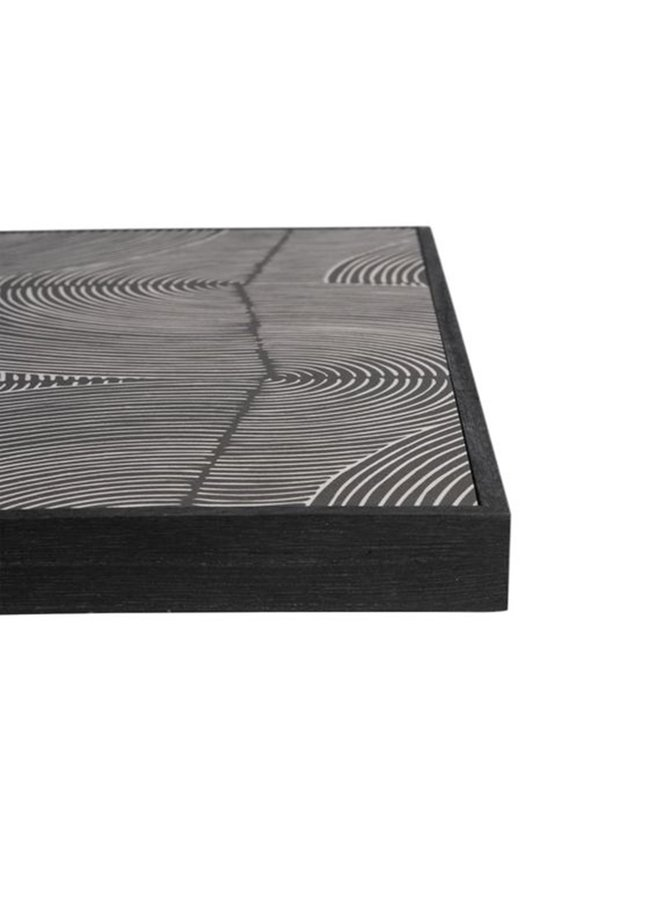 Painting graphic pattern black | 35x25cm