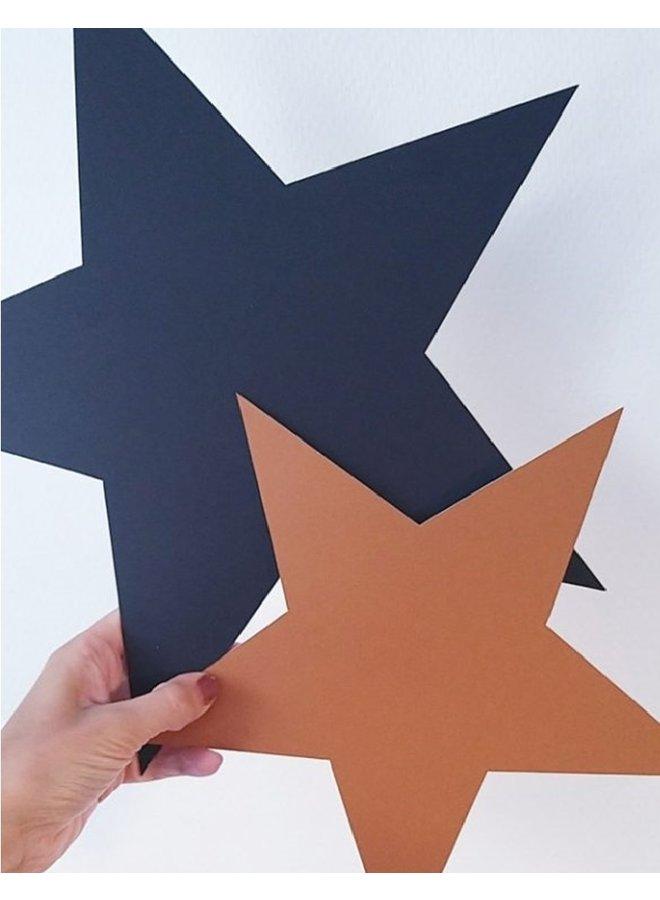 Wall circle Star, leopard hazelnut