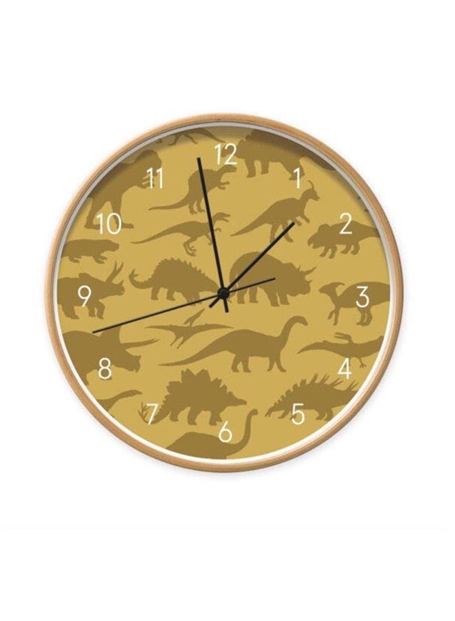 Children's clock Dino ocher
