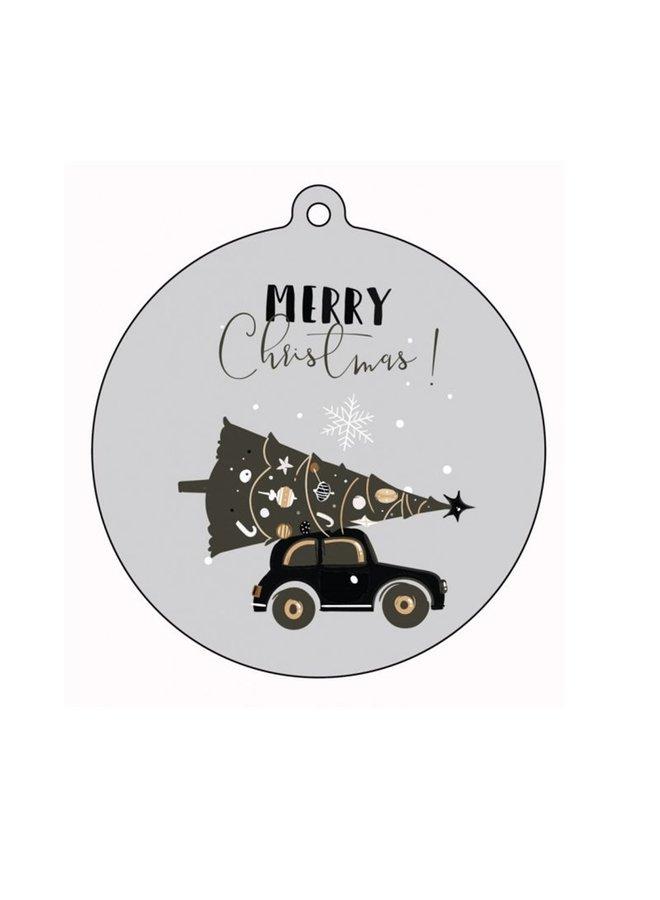 Kerstbal hanger Merry Christmas