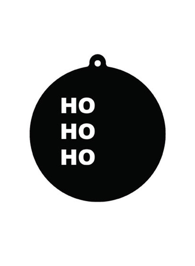 Kerstbal hanger Ho Ho Ho