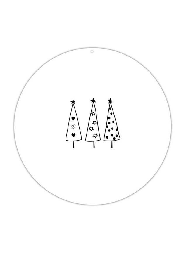 Muurcirkel roundie |  kerstboompjes
