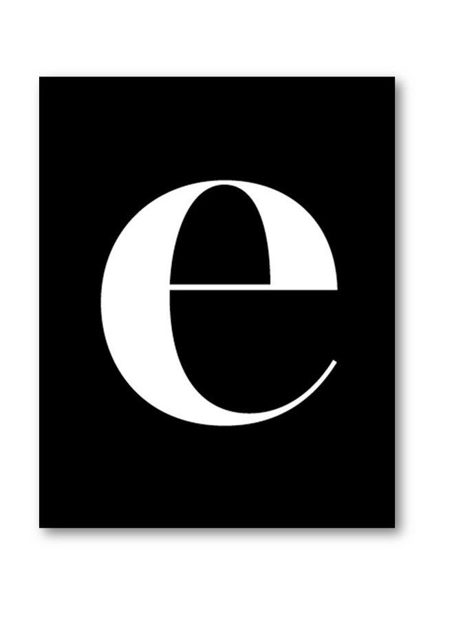 Letterposter letter e | zwart wit