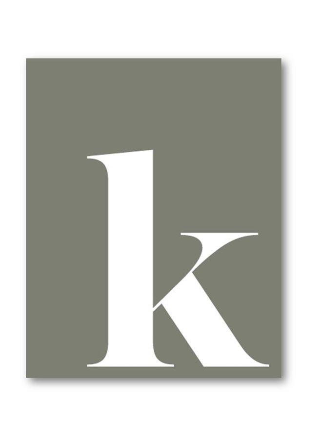Letter print letter k  | grey white